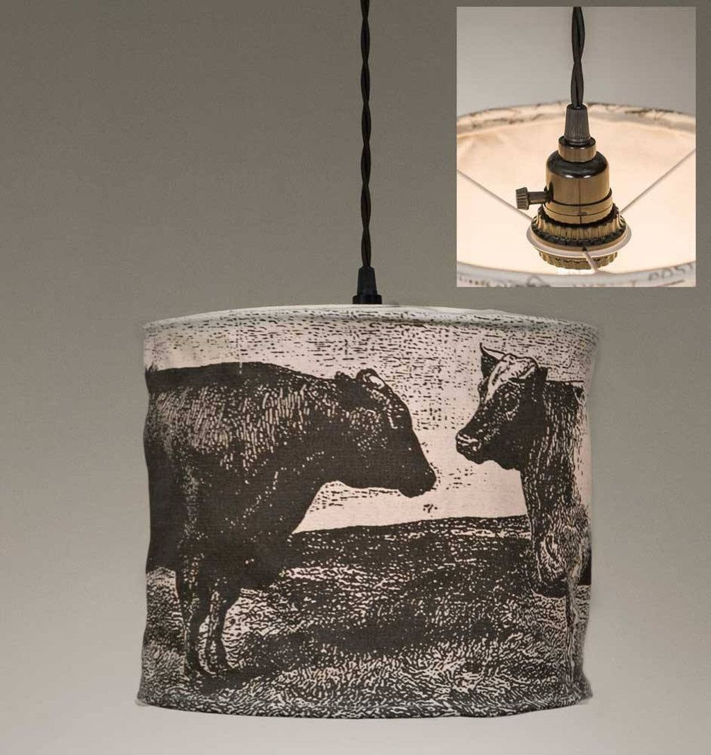 Cows canvas pendant lamp products pinterest pendant lamps