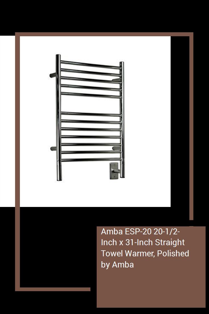 Amba ESP20 201/2Inch x 31Inch Straight Towel Warmer