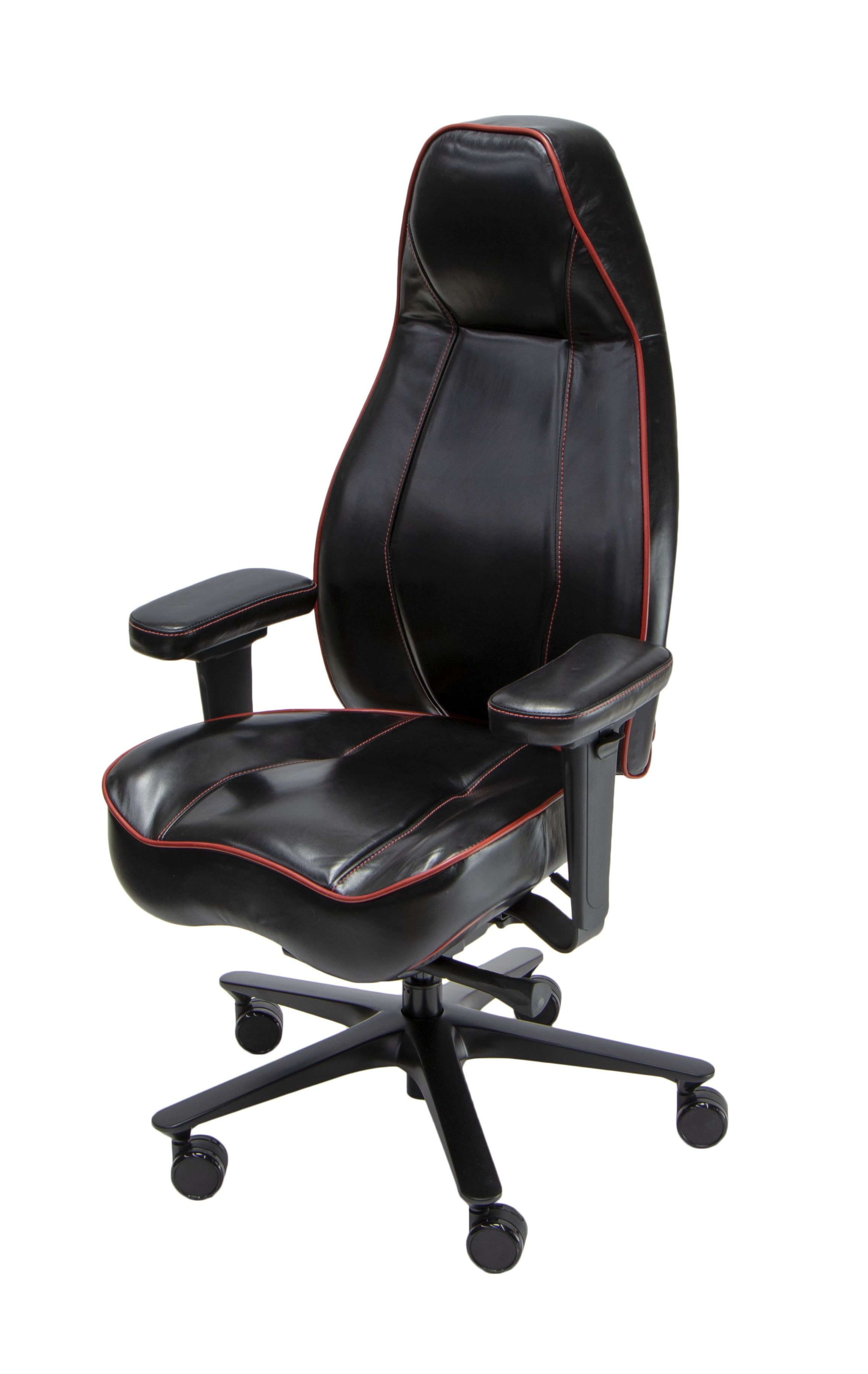 Lifeform Legacy Executive Chair Premium Leather With Contrast Piping And Sching Detail Fully Customizable