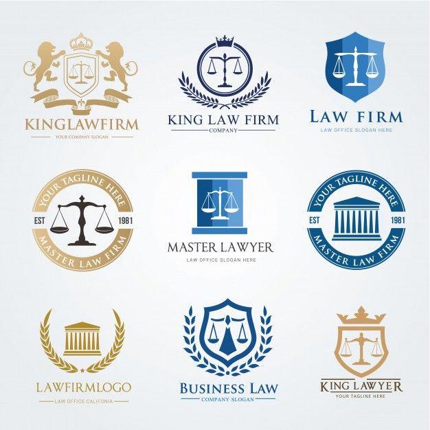 Law Firm Logo Icon Vector Design Lawyer Logo Design Set Logo