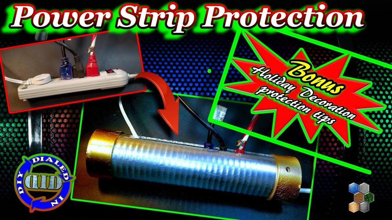 Power Cord Protection DIY Power Strip Safety Device