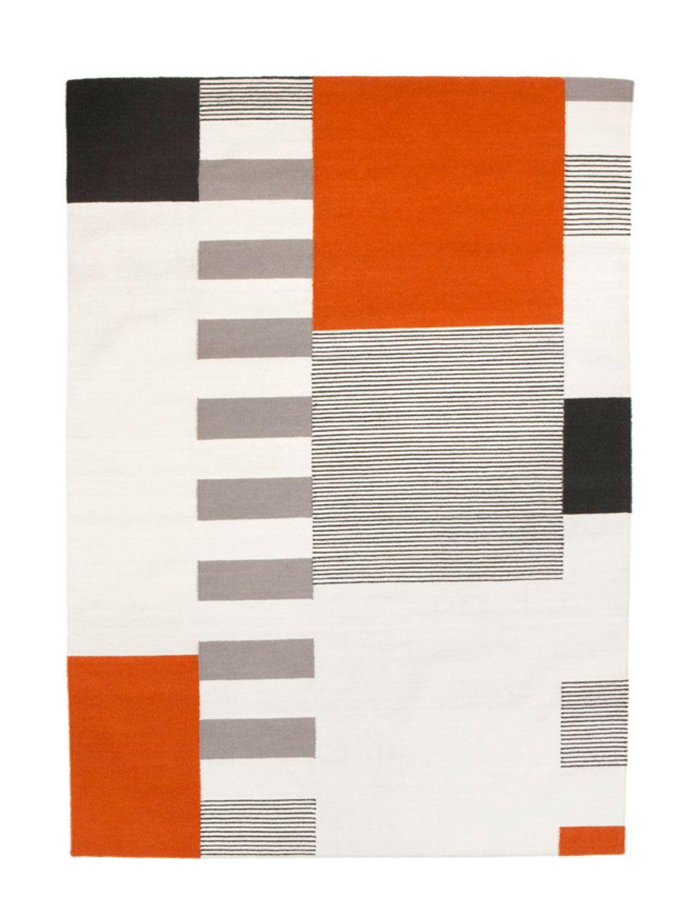 Orange Rugs For Living Room Linie Design Graphic Orange Rug Patterned Rugs Living Room