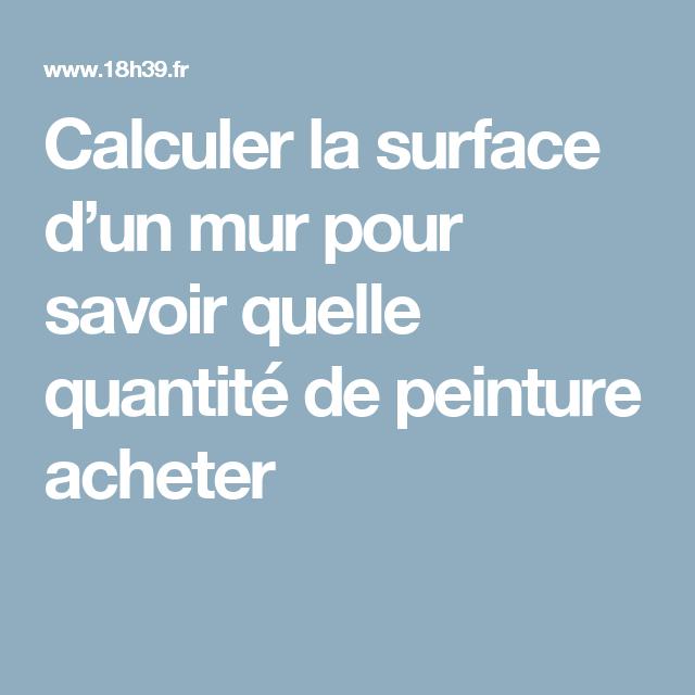 calculer la surface dun mur pour savoir quelle quantit de peinture acheter - Calcul D Une Surface A Peindre