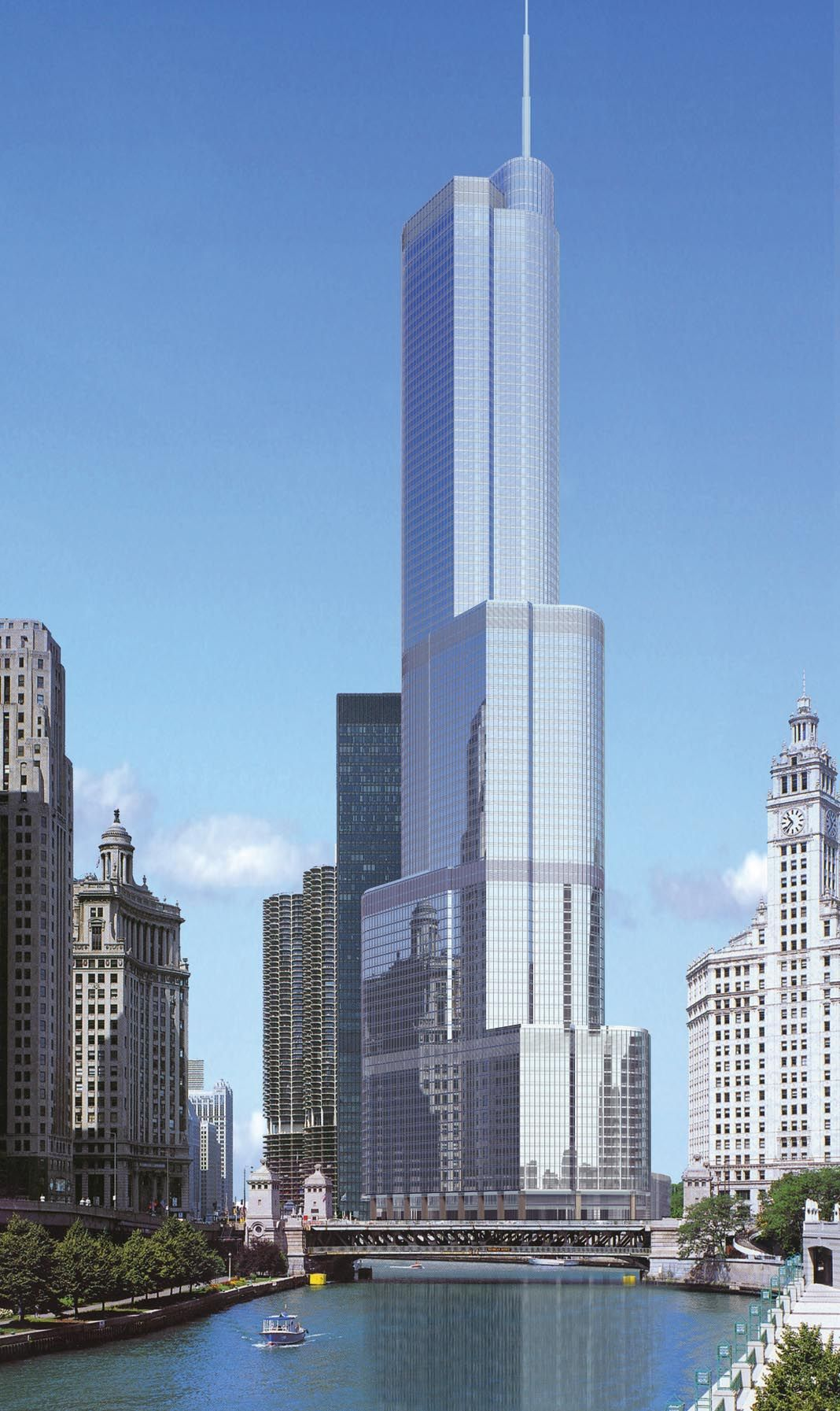 Trump Tower Chicago Thread 415 Meters 92 Floors Architecture