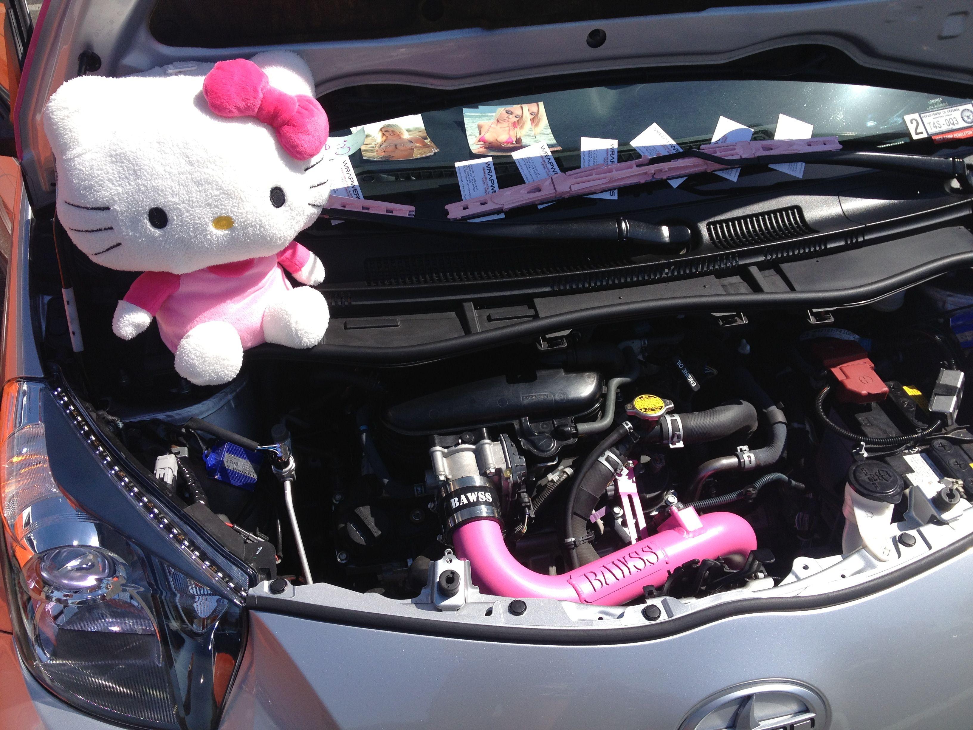 Hello Kitty Car Pink Car Scion Iq Bawss Air Intake Www Facebook Com