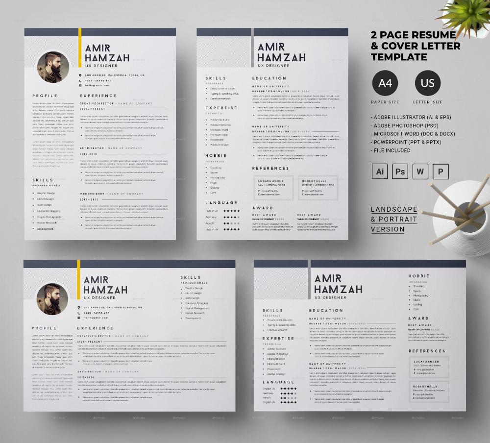 Resume/CV in 2020 Cover letter design, Cover letter