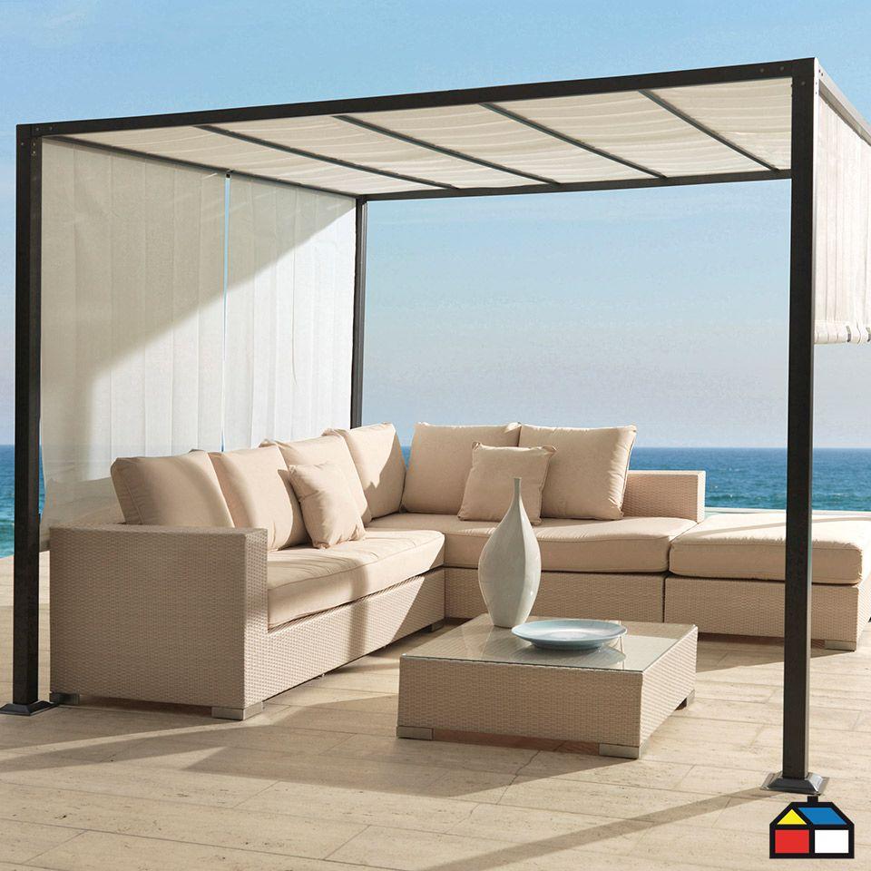 P rgola de aluminio terraza jardin home deco for Columpio de terraza homecenter