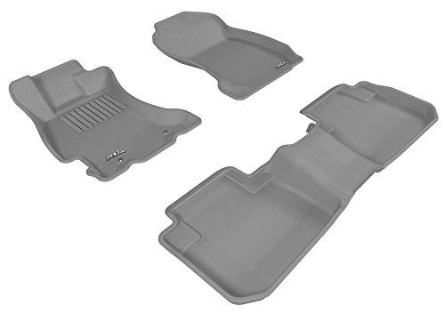 Gray Kagu Rubber 3D MAXpider Front Row Custom Fit All-Weather Floor Mat for Select Subaru Forester Models