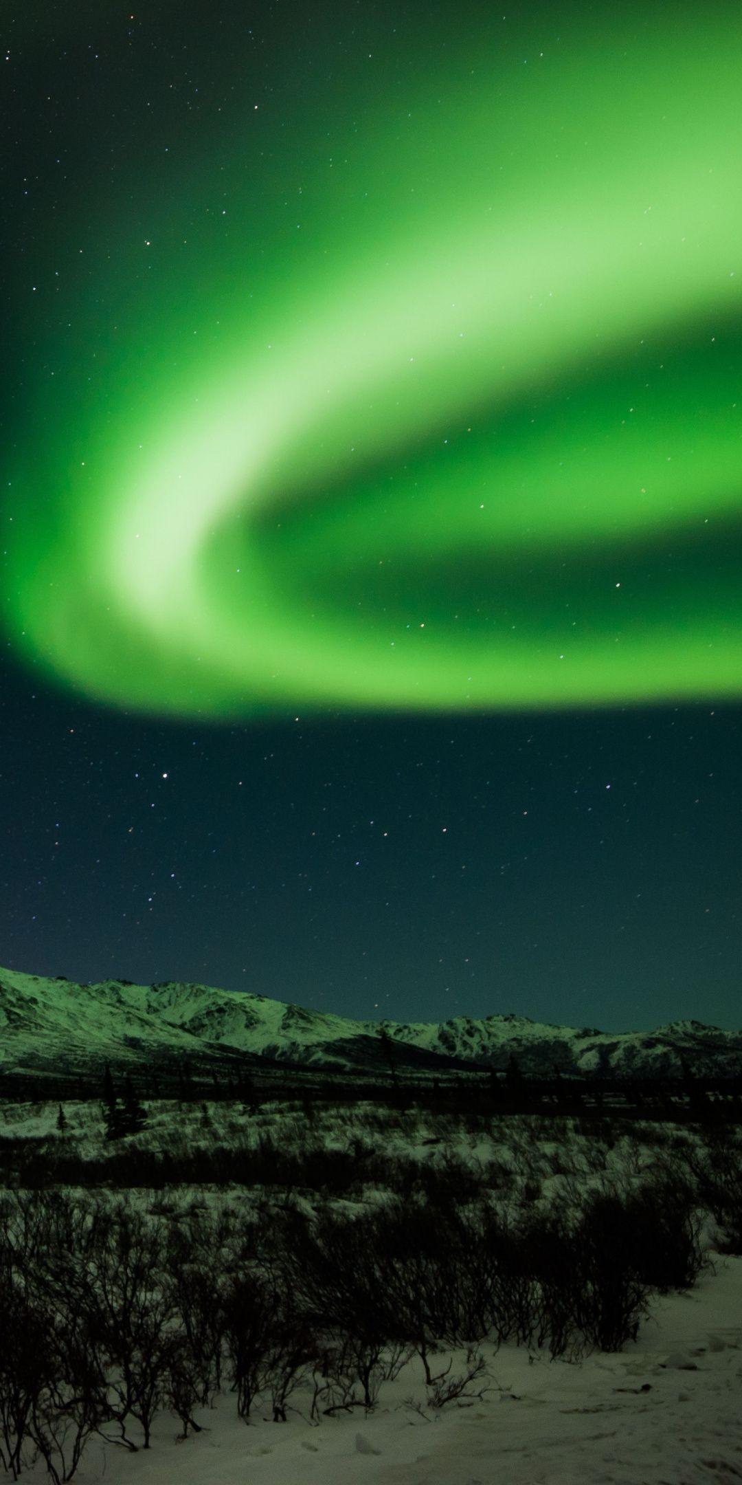 Northern Lights Nature Sky 1080x2160 Wallpaper Northern Lights Wallpaper Northern Lights Iphone Background Art