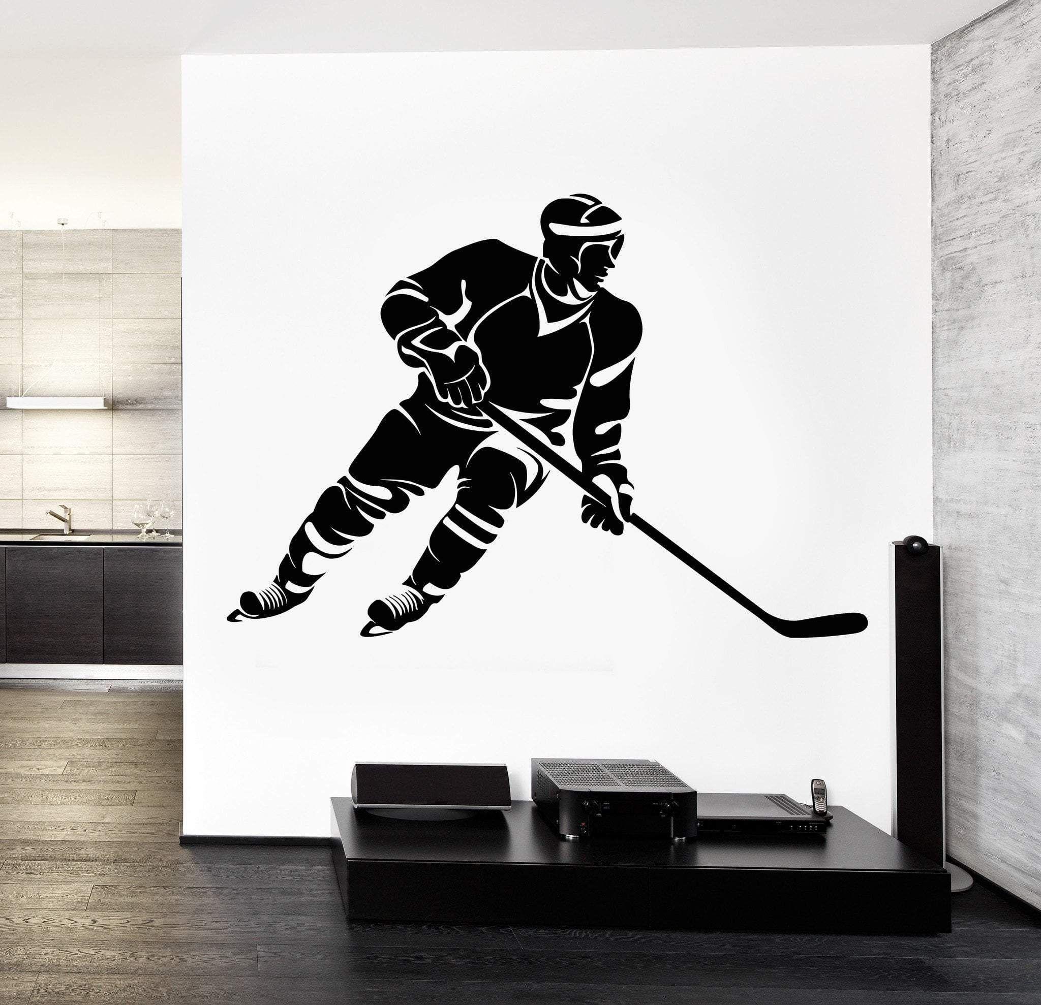 Wall Decal Sport Hockey Winter Sport Vinyl Sticker Unique