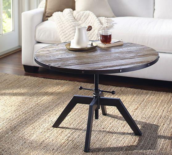 blaine reclaimed wood adjustable bunching coffee table future rh pinterest com