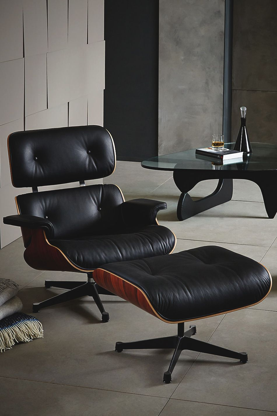 Buy Vitra Eames Lounge Armchair + Ottoman, Black/Pallisander from our Sofas  range at John Lewis. Free Delivery on orders over