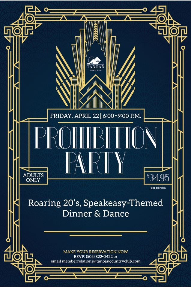 Roaring 20s Speakeasy Gatsby Theme Event Flyer Poster Template