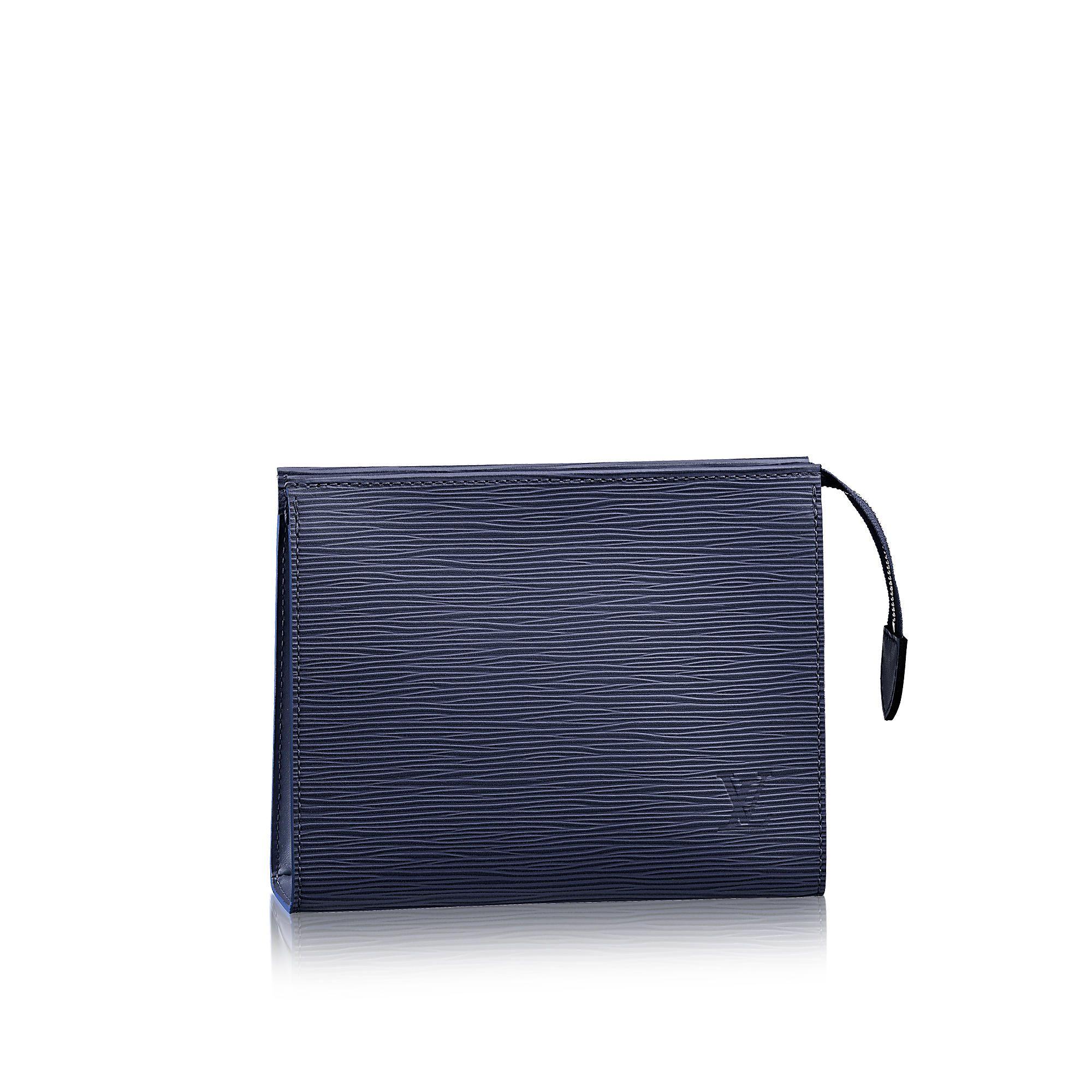 93e671ba3ca34 Louis Vuitton Toiletry Pouch 19 in Indigo Epi - indigo coated canvas lining  -  545