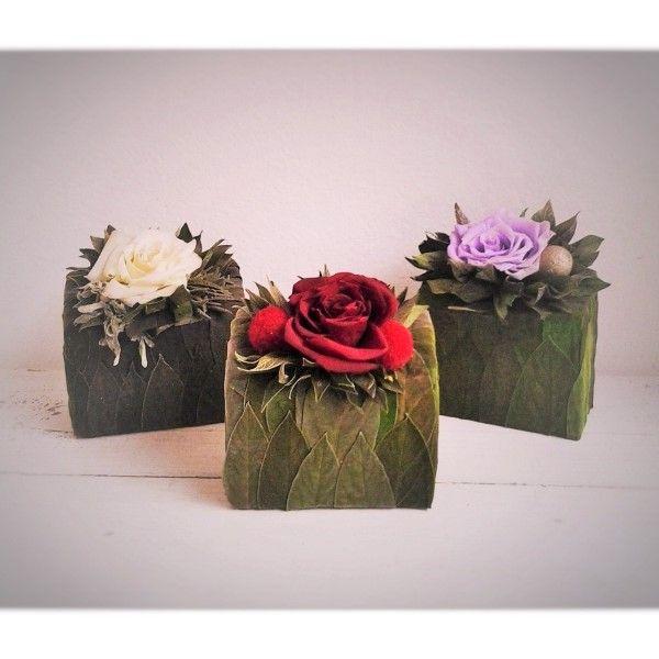 dekorácia balzamovaná ruža 9,5 x 6 x 11 cm