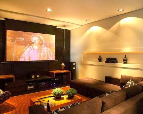 Minha Sala de TV com jeito de cinema!