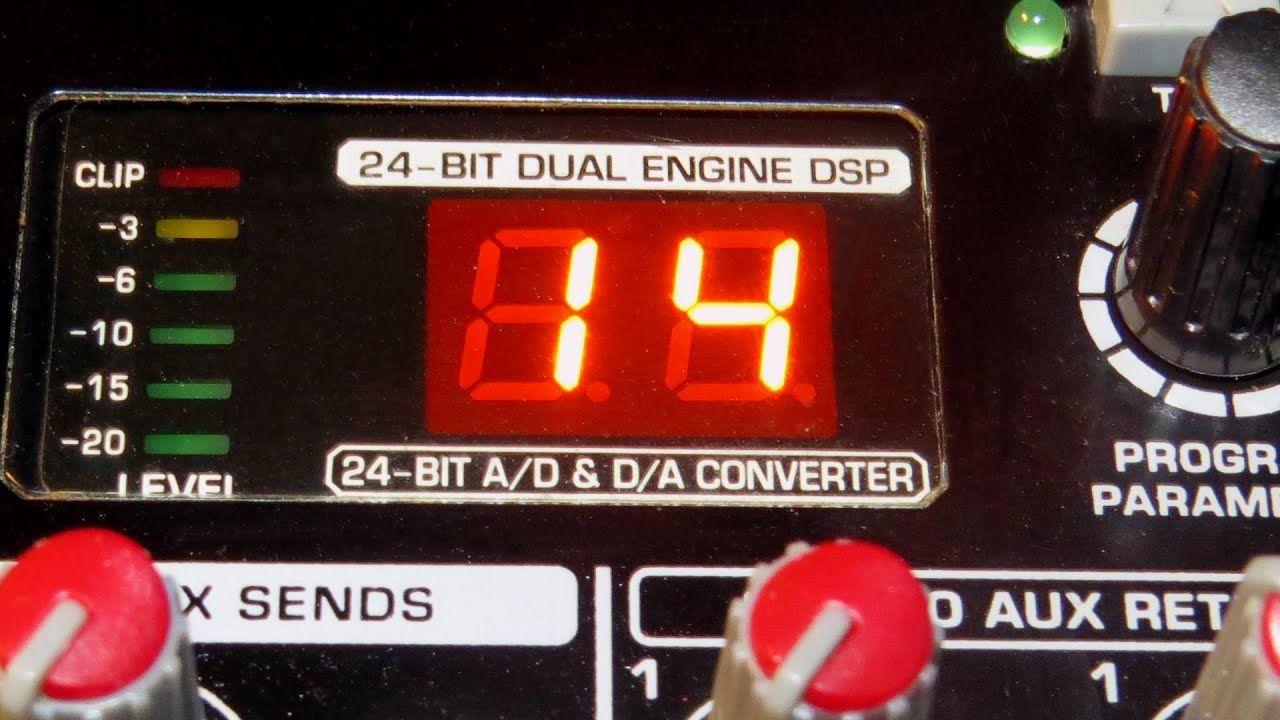 Behringer Xenyx X2222 Usb Mixer Fx Processor Demo Part 1 Of 2 Voice Microphone Preamps Usb Digital Alarm Clock
