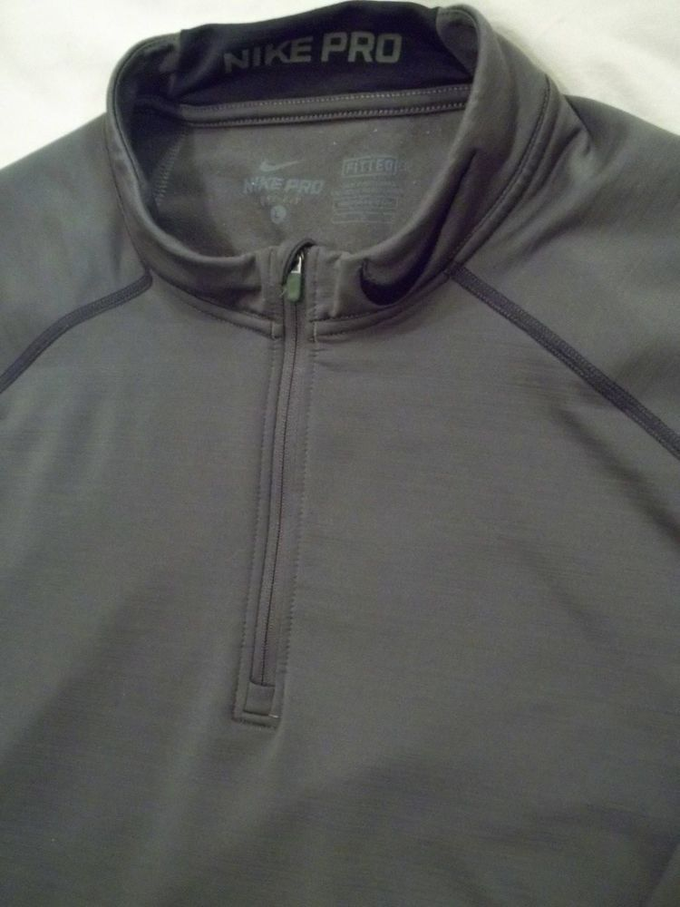 Men s Nike Olive Green Large Sweat Shirt 1 4 Zipper Fitted Dri Fit Nike Pro   fashion  clothing  shoes  accessories  mensclothing  activewear (ebay link) 9333edadc