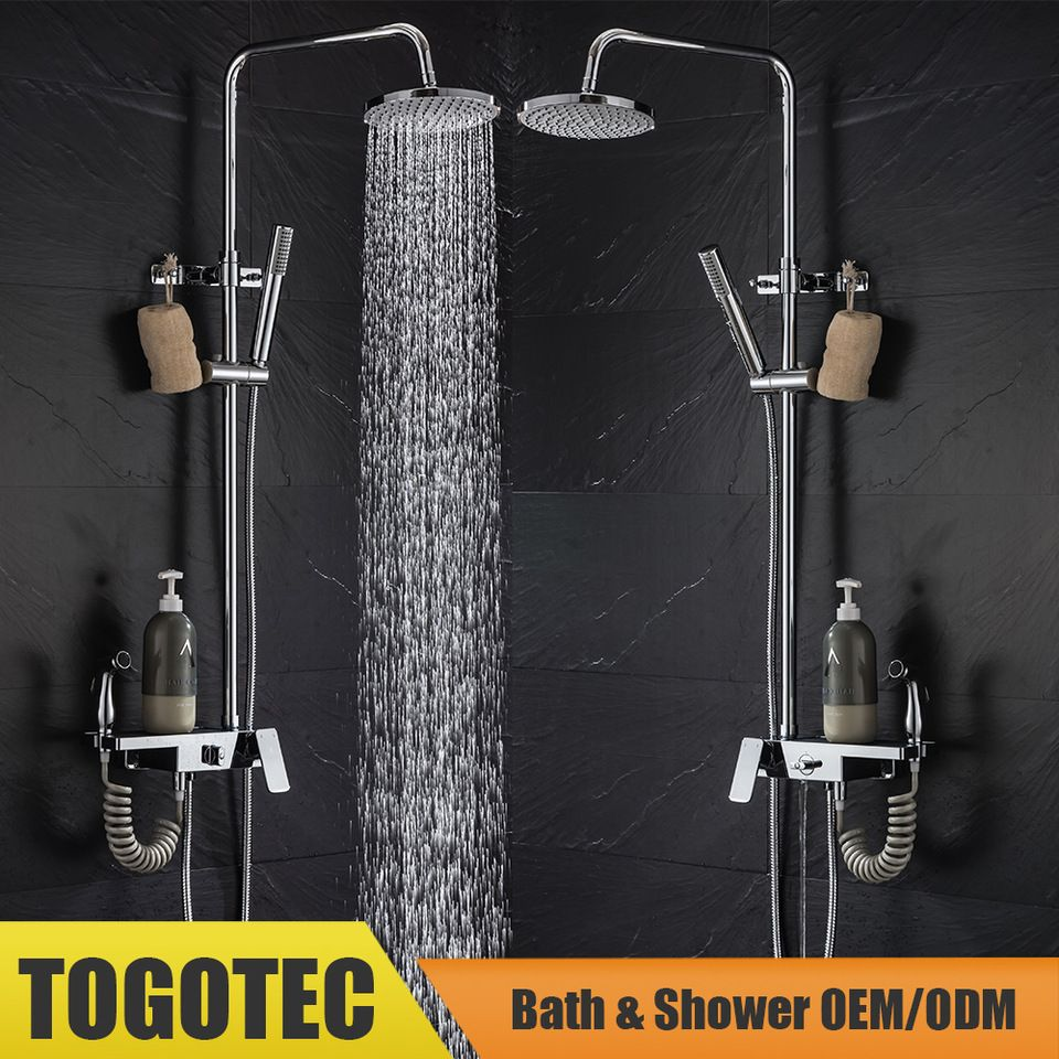 3-Function Exposed Shower Set, 3-Way Brass Shower Mixer, Shower Kits ...