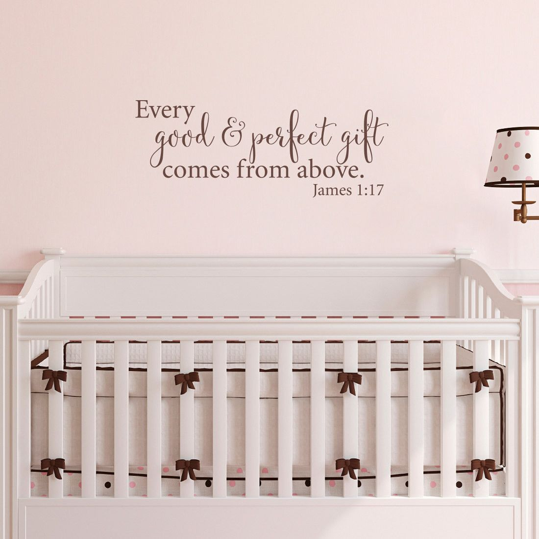 Every Good Perfect Gift Nursery Wall Decal Comes From Above