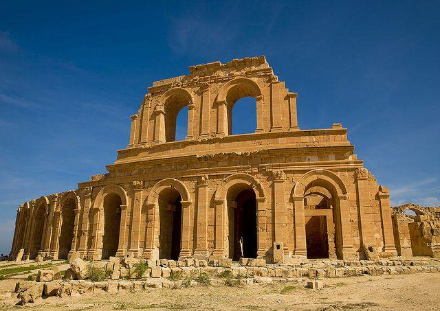 Theatre In Ancient Roman City Sabratha Libya Par Eric Lafforgue Secret Places Roman City Cool Places To Visit