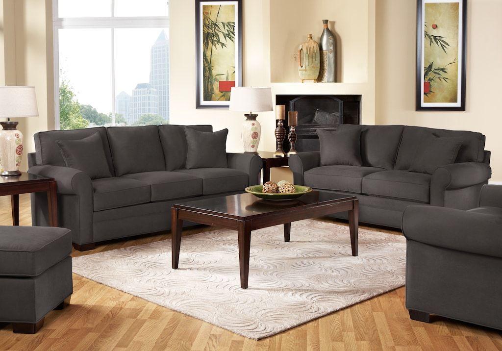 Cindy Crawford Home Bellingham Slate 5 Pc Living Room Living Room Sets Gray Living Room Orange Living Room Sets Copper Living Room