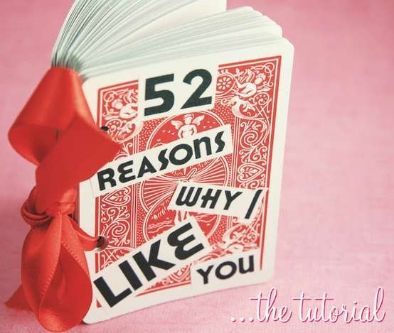 Creative Valentines Day Gift Ideas For Your Boyfriend 52 Reasons Creative Valentines Diy Gifts