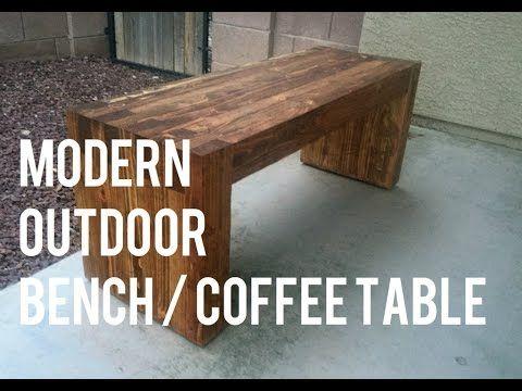 ef1918c28aa DIY Modern Outdoor Bench