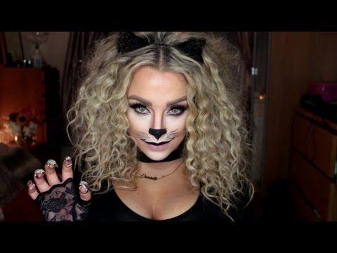 Last Minute Halloween Kitty Cat Makeup Tutorial 2015 - YouTube ...