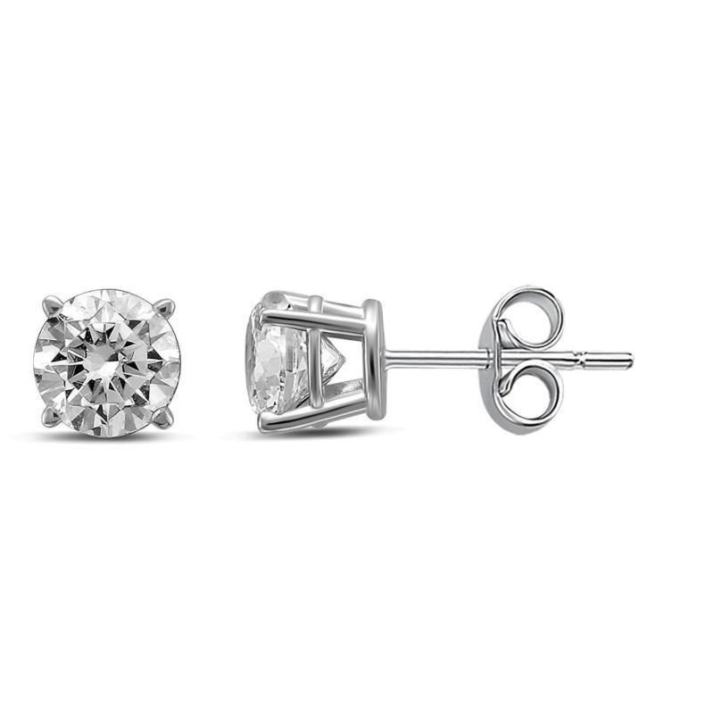 ade4f6b676140 Diamond Jewel IGI Certified 14K Round Diamond 1 Carat TW Stud ...