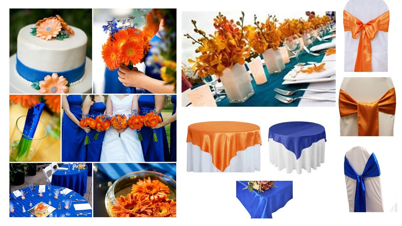 Tricky wedding colors for season/venue- Advice please | Orange wedding  decorations, Orange wedding themes, Blue orange weddings