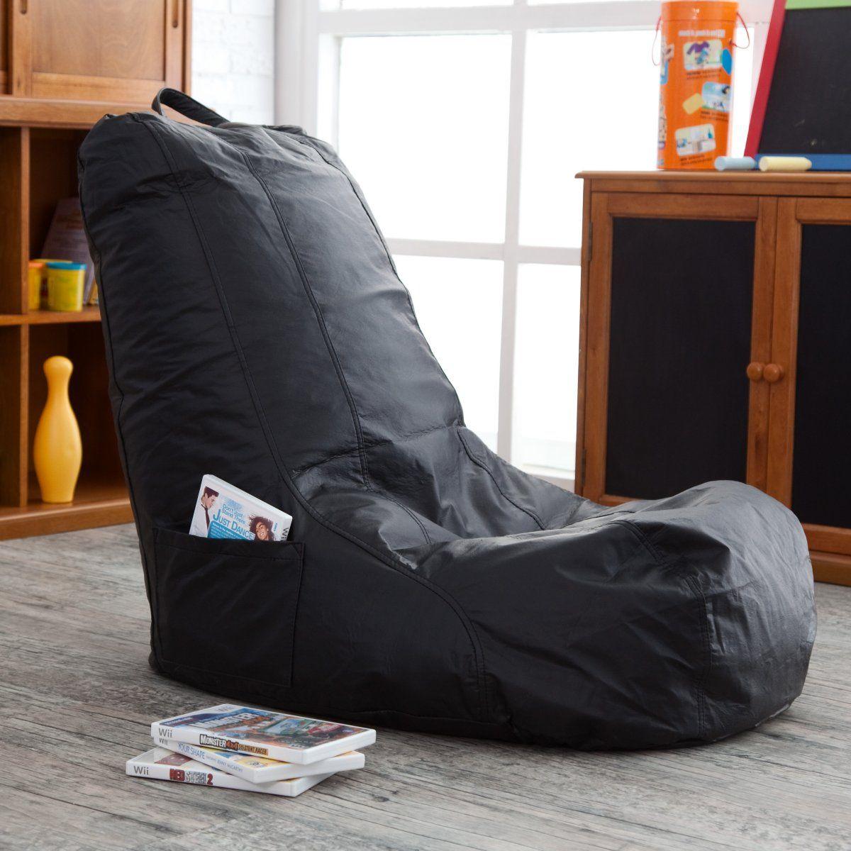 Vinyl Video Bean Bag Chair Www Hayneedle Com Bean Bag Chair Bean Bag Chair Kids Bean Bag Gaming Chair