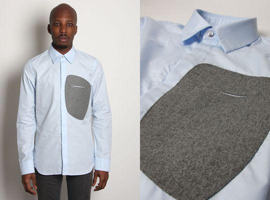 Jil Sander Poplin Patch Shirt Fall 2010