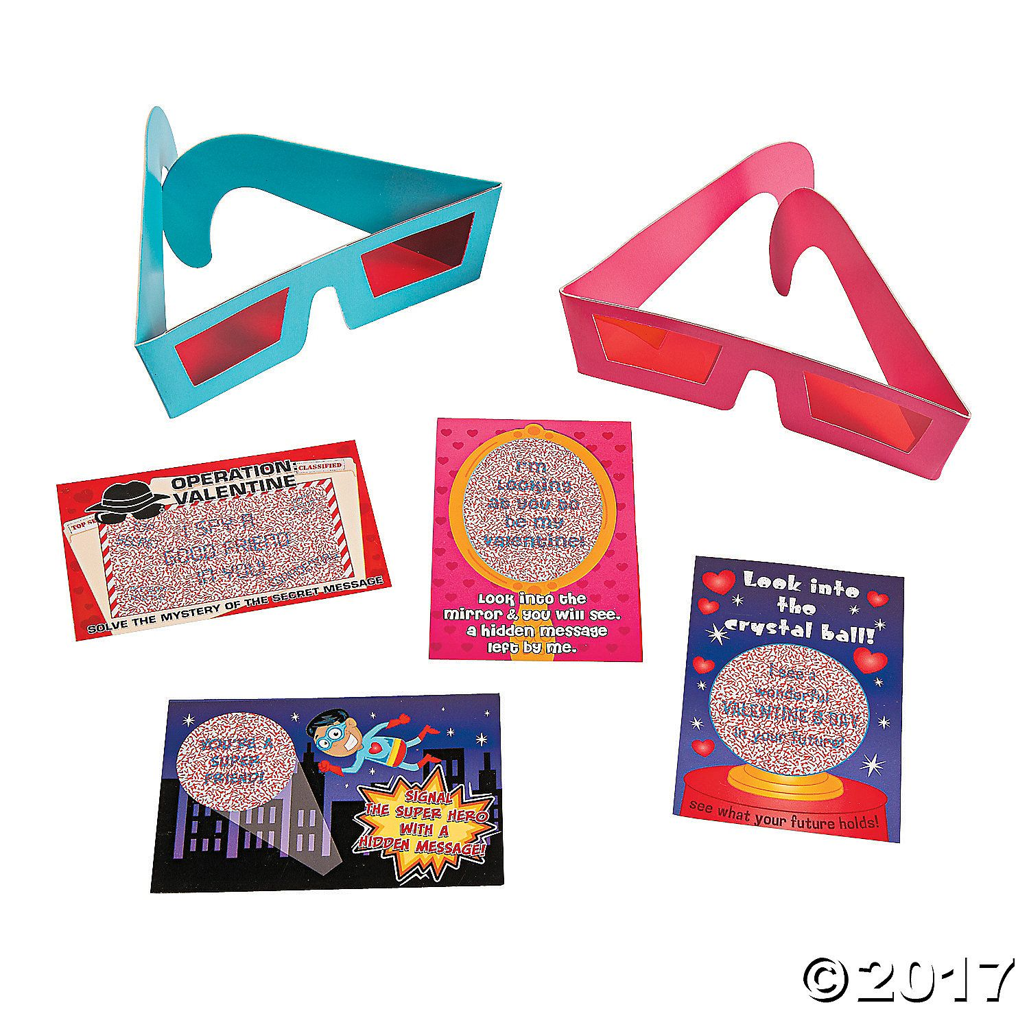 3d Glasses With Valentine Cards Orientaltrading Valentines