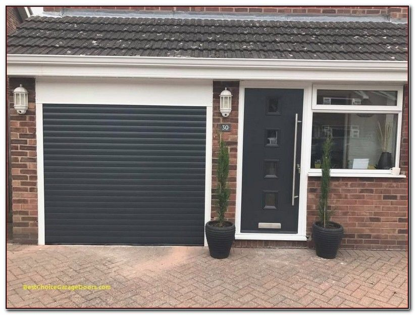 Garage Doors Fitted Prices Nottingham New Anthracite Grey Insulated And Remote Control Roller Garage Door Garage Doors Black Garage Doors Composite Front Door