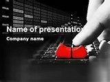 Recording studio PowerPoint template will be a good help in presentations on music recording labels, making music