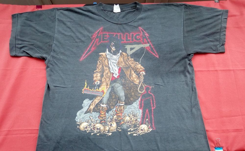 b8e34b6f0a9b 1992 Metallica The unforgiven Pushead original t-shirt rare vintage Large  Slayer