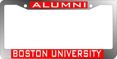 Bu Alumni License Plate Frame Terrier Spirit Gear