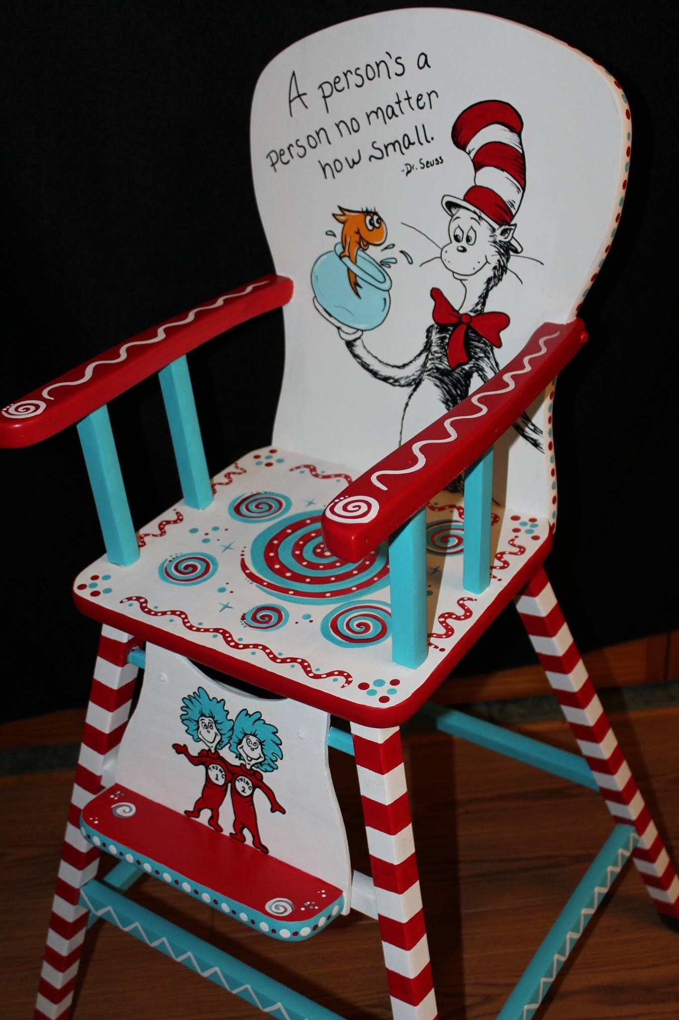 Hand Painted Dr Seuss Chair By Jody Rife Paintedchair