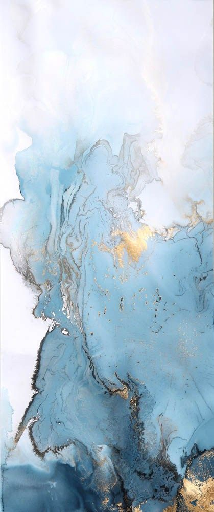 Blue And Gold Marble Painting By Beth Nicholas Agate Grant
