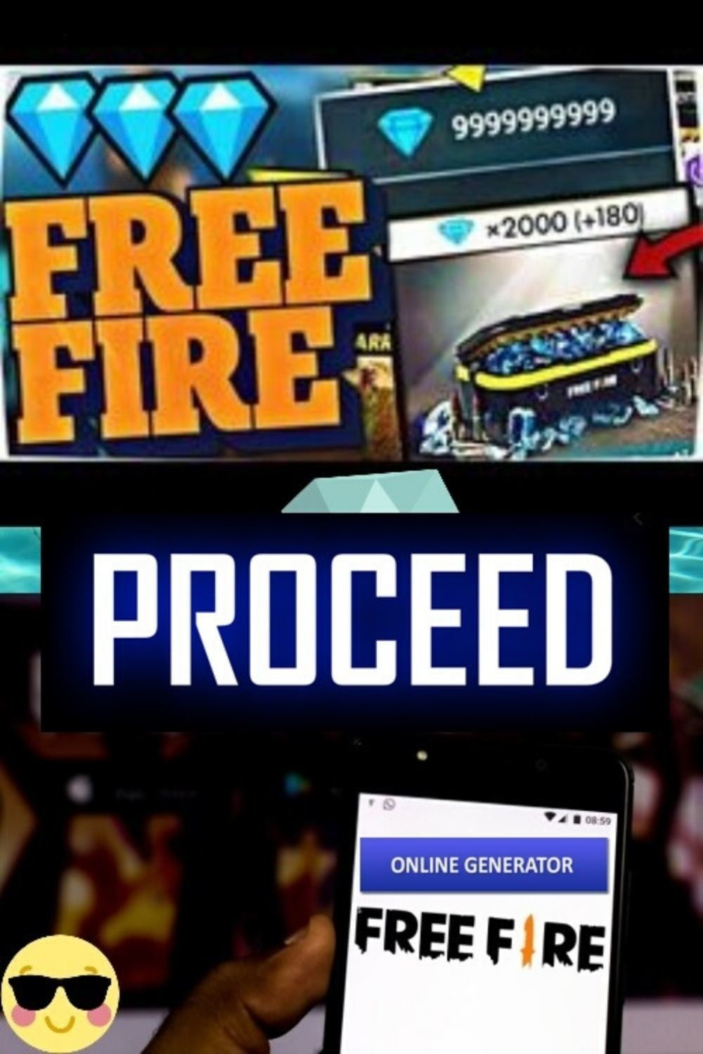 Cara Cheat Diamond Free Fire : cheat, diamond, [Coins, Diamonds, Diamond, Free,, Gems,