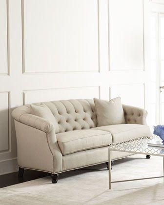 Naturelle Linen Tufted Sofa Tufted Sofa Furniture Sofa