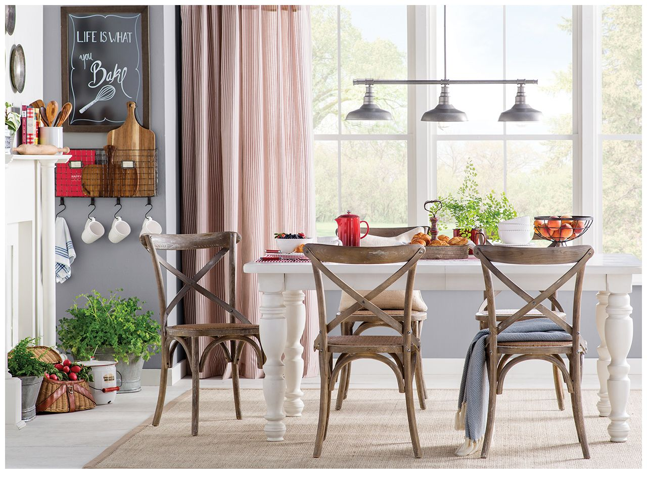 Farmhouse style meets country charm dining area decor interior design also rh pinterest