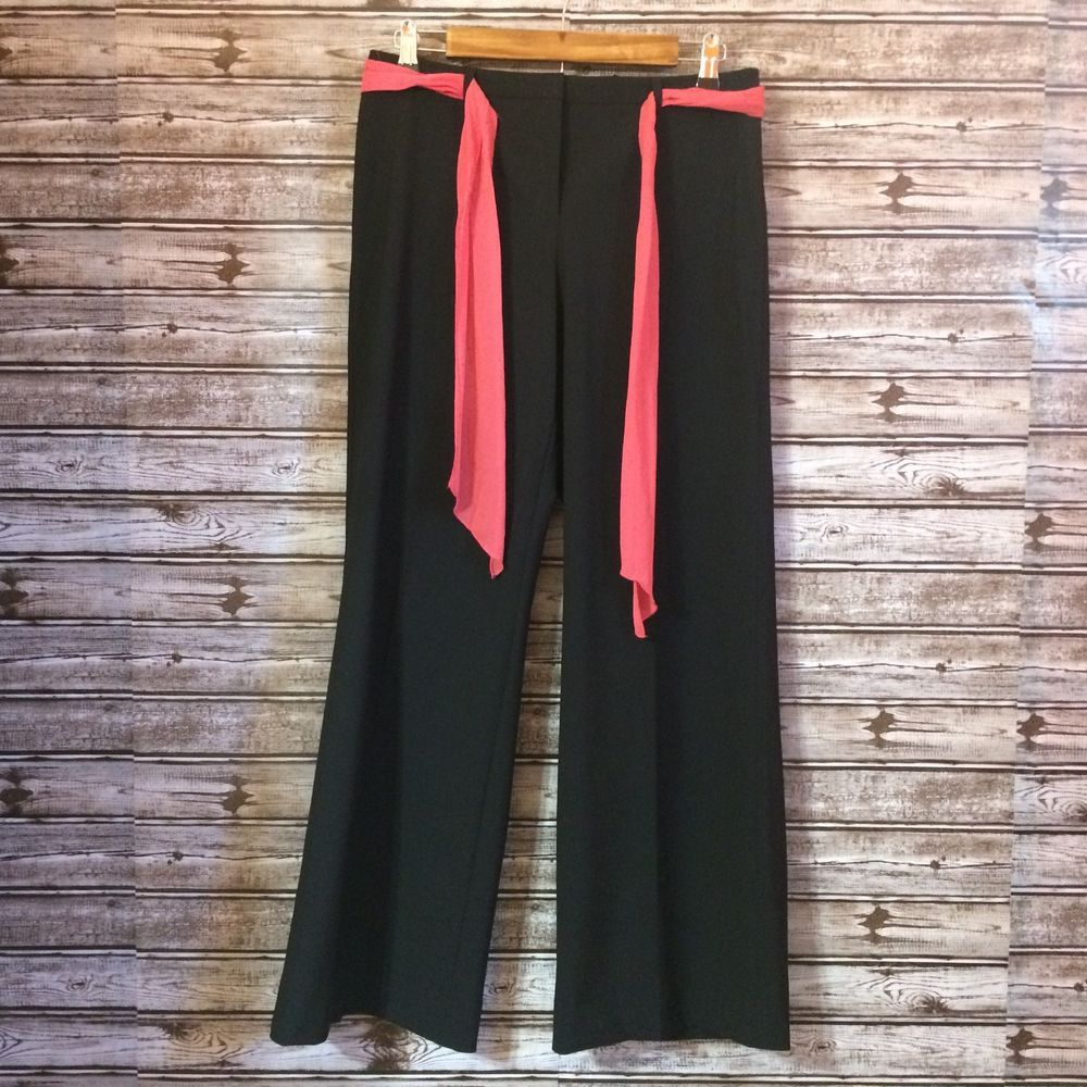 0b40e56b2d8bf THE LIMITED Dress Pants Womens Size 6 Short Stretch Black Wide Leg Career  Work #fashion