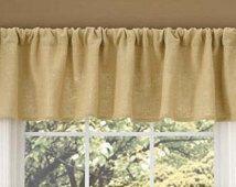 Window valance, Burlap valance, valances, burlap window treatment, rustic window treatment , Burlap curtain, rustic decor, home decor #burlapwindowtreatments