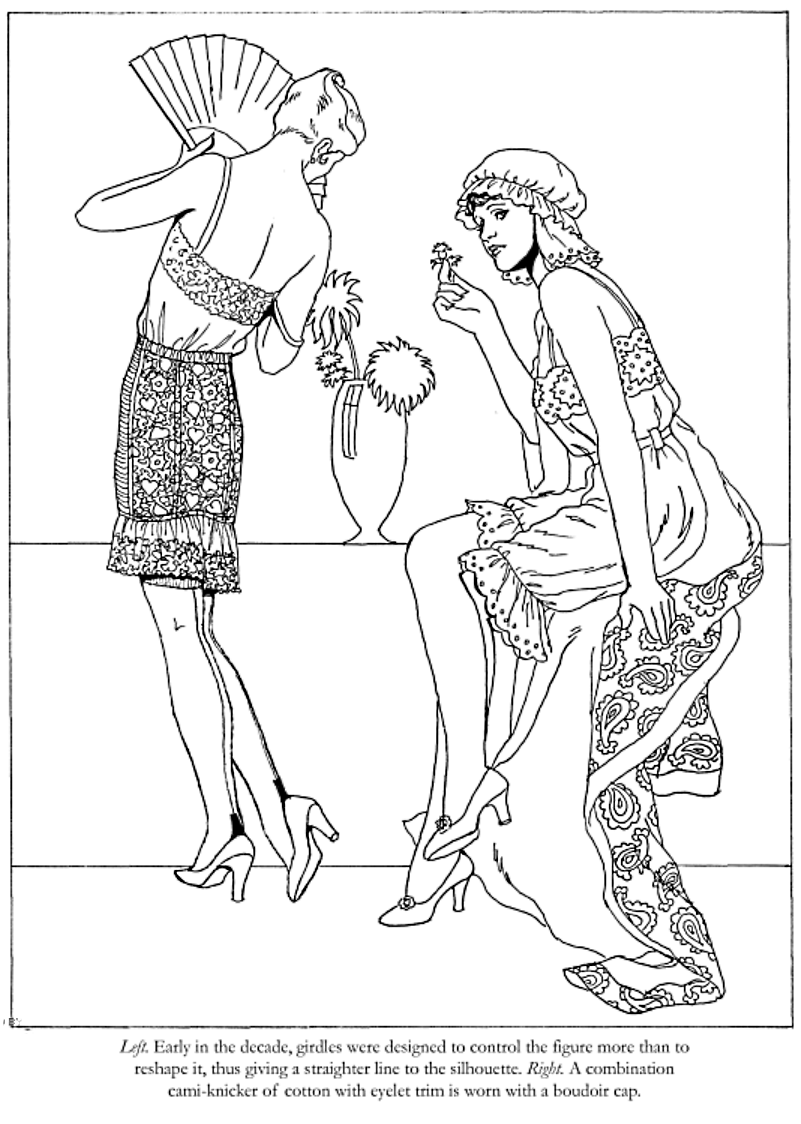Fashions of the Roaring Twenties Coloring Book, Dover