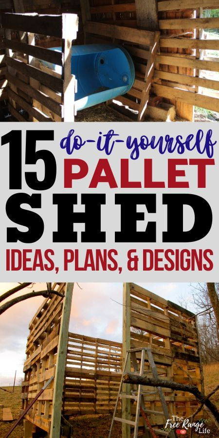15 DIY Pallet Shed Barn and Building Ideas