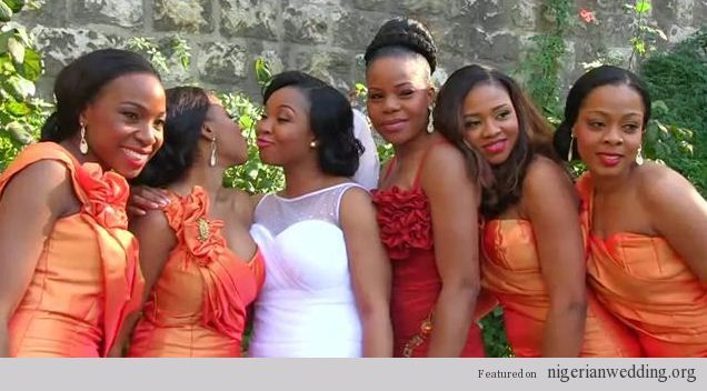 Nigerian Wedding Colors Burnt Orange Bridesmaids Dresses