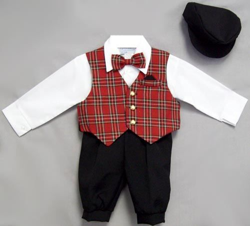 DapperLads - Infant Boys Red Plaid Holiday Knicker Set - Boys CHRISTMAS  Outfits - holiday clothes for Thanksgiving, Christmas / fall and winter  special ... - DapperLads - Infant Boys Red Plaid Holiday Knicker Set - Boys
