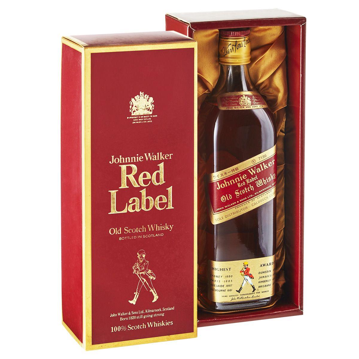 Johnnie Walker Red Label Coffin Box 750ml Vintage Johnnie Walker Johnnie Walker Red Johnnie Walker Red Label